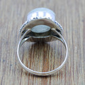 925 Sterling Silver Jewelry Rainbow Moonstone Fine Ring