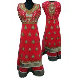 Georgette Embroidered Trendy Ladies Western Dress