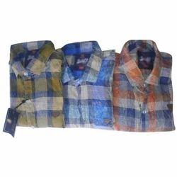 Mens Cotton Check Shirt, Size: S to XXXL