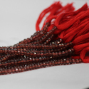 Natural Red Garnet Faceted Rondelle Beads 4mm
