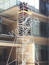 Silver Scaffolding Aluminum With Stairway