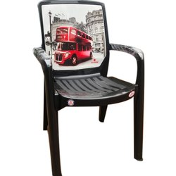 With Hand Rest (Arms) Black Plastic Chairs, Warranty: 2 Years