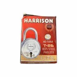 Harrison Normal Stainless Steel Padlock, Padlock Size: 40 mm