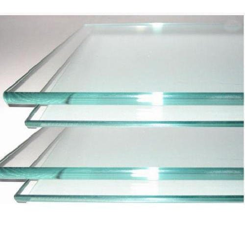 101-500 Square Feet Transparent Safety Toughened Glass, Shape: Flat