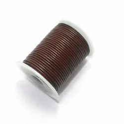 Plain Assorted Jewellery Making Leather Cord, Size: 1mm And 2mm