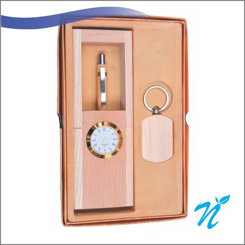 3 PC Wooden Giftset with Watch