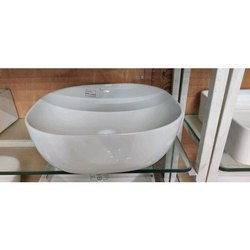 Plain Ceramic White Table Top Wash Basin