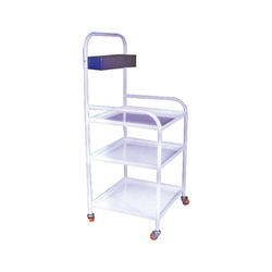4 Wheels Stainless Steel Bedside Trolley