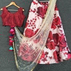 Printed Silk Designer Party Wear Lehenga Choli