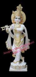 Beautiful White Marble Krishna Statue