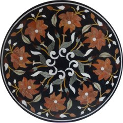 Black Marble Coffee Table Inlay Top