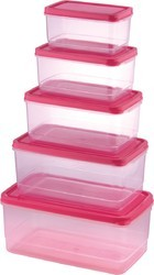 Plastic Multi Storage Container 5pcs Set