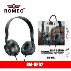 Romeo Black Rm-Hp02 Headphones