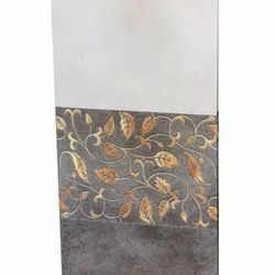 Rectangular Floral Printed Ceramic Wall Tile, Thickness: 5-10 mm, Size: 30*45 Cm