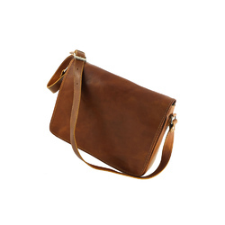 Custom Colour Custom Patterm Leather Messenger Side Bag, Size: Custom Size
