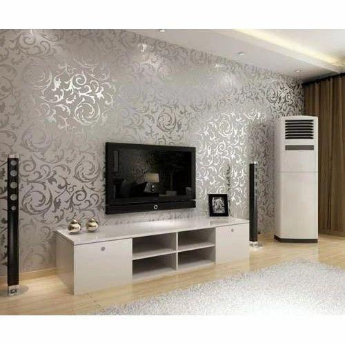 Ordinaire Living Room Wall Wallpaper