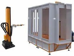 Micro Engitech Aluminium Automatic Powder Coating Booth, Electric, Cross-Flow Type