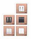 6 Module Brush Copper Modular Switch Plate