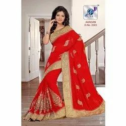Fancy Heavy Handwork Sarees