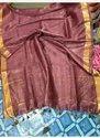 Check Silk Linen Sarees