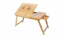 Wooden Foldable Laptop Table with Two Cooling Fans