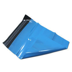 Plain Plastic Blue Courier Bag