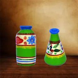 Handpainted Warli Pots Home Decore and Corporate Gifting Handicrafts IHK 7003