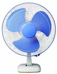 3 Blue, Read and White Raddison Table Fan, High