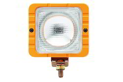 JCB Work Lamps Square Yellow