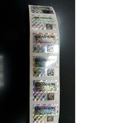 QR Code With Numbering Hologram Label