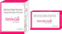 Softgel Capsule of Pregabalin Methylcobalamin Alpha Lipoic Acid Pyridoxine HCI and Folic Acid