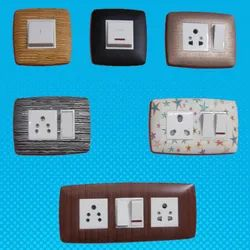 sqaure / rectangular Multicolor Anchor Decorative switch plate