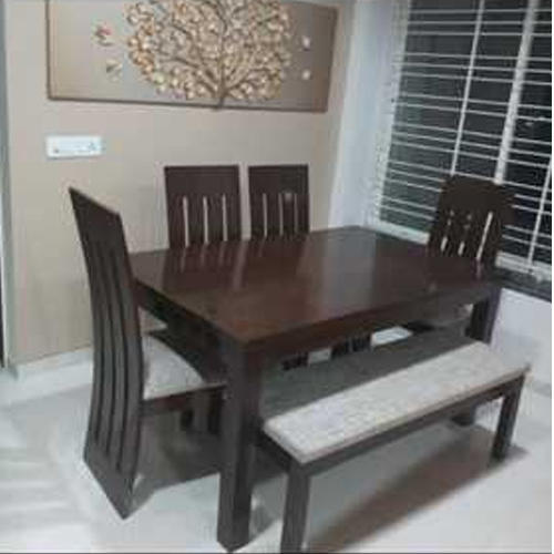 Dining Table Four Chairs One Bench