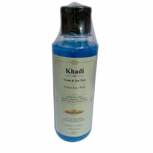 Khadi Neem Tea Tree Herbal Face Wash, Packaging Size: 210 Ml, for Personal
