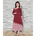 Double Layer Rayon Kurti
