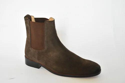 4adeb9a1f Men's Combat Boots Suede Fall / Winter Boots Mid Calf Boots Black / Gray /  Khaki