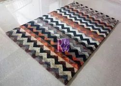 Geometric Design Viscose Carpet