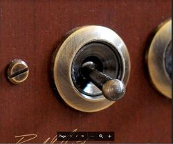 Antique Style Flush Panel Mounting Switch
