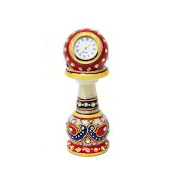 Piller Double Peecock Yellow Red Clock