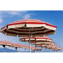 Striped Beach Umbrellas