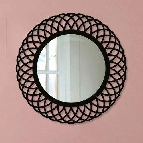 Round Fancy Decorative Wall Mirror Rs 4500 Piece Vya Decors Id 20742161362