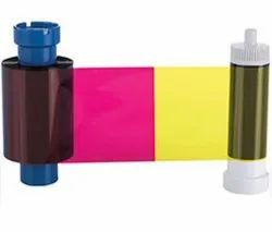 Orphicard Half Panel Ribbon (Ymckoko) Color Ribbon & Cleaning Roller 250 Images Per Roll