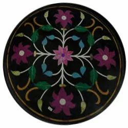 Marble Inlay Round Dining Table Top