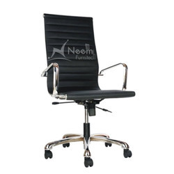 NF-109 Black Italian Leather Executive Chair