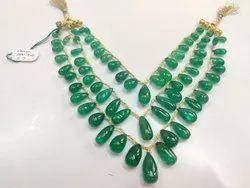 Green Emerald Plain Drops