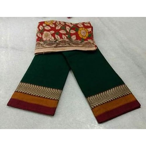 6.3 M (with Blouse Piece) Casual Border Ikkat Saree, Packaging Type: Pastic Bag