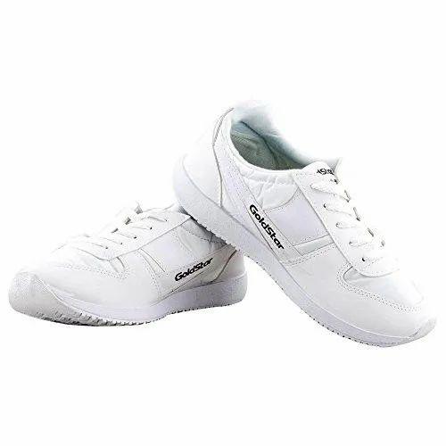 Mens Gold Star White Marathon Shoes