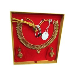 Brass Golden Traditional Artificial Necklace Set