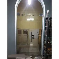 Hinged Plain Fixed Toughed Glass Door, For Home, Thickness: 12mm