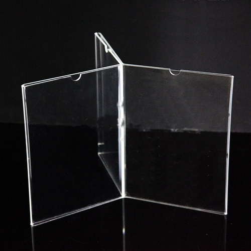 Clear/transparent Acrylic Menu Card Shelf Announcer, Size: A 5